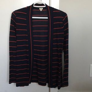 J Crew striped cardigan